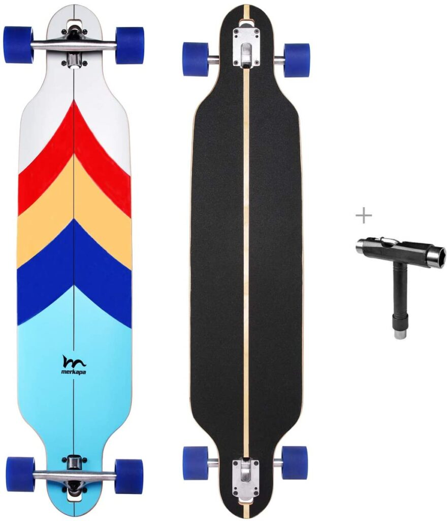 M Merkapa 41 Inch Drop Through Longboard